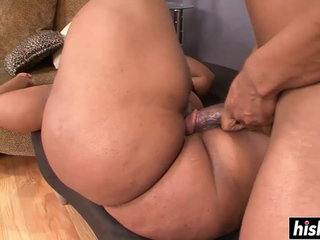 Blonde ebony gets drilled in various positions